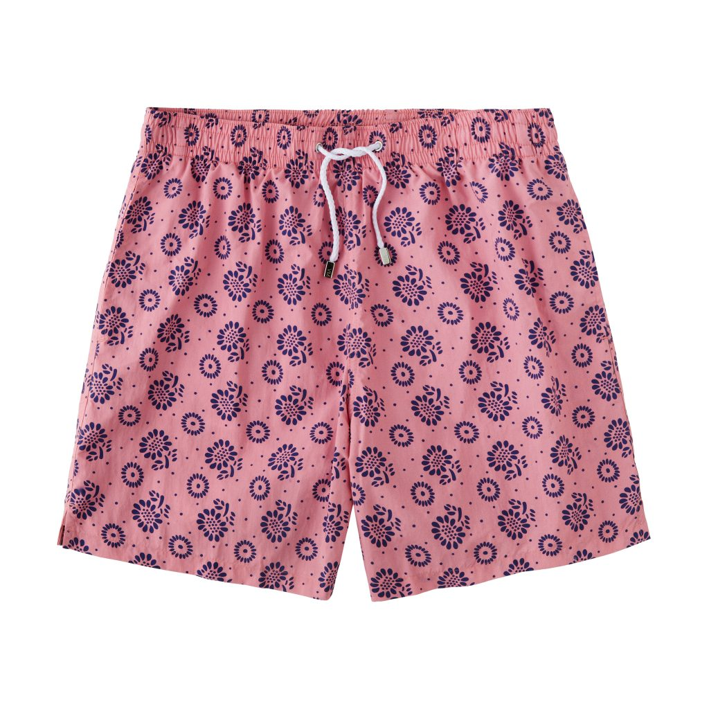 Printed Floral Swimtrunks – Pink